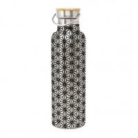 Edelstahl Trinkflasche - Ginza black gold edelstahl