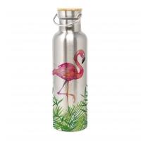 Edelstahl Trinkflasche - Tropical Flamingo