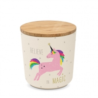 Bambus Storage - Storage Jar small Bamboo Pink Unicorn