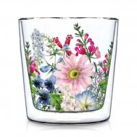 Doppelwand Glas 0,3 L - Floriculture