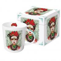 Porzellan-Henkelbecher - Frida: Memory the Heart