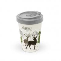 Bamboo mug To-Go - Adventure Deer white Travel Mug
