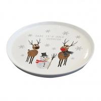 Porzellan-Teller 21cm - Cold Outside Trend Plate 21