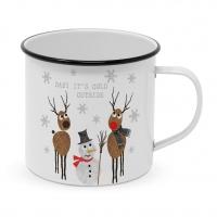 Metal Cup - Cold Outside Mug