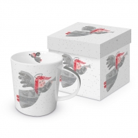 Porzellan-Henkelbecher - Silver Angel Trend GB