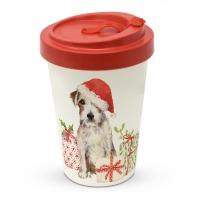 Bamboo mug To-Go - Christmas Pup Travel Mug