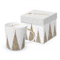 Porzellan-Henkelbecher - Joyeux Noel Real Gold Trend GB