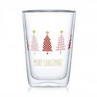 Doppelwand Glas 0,4 L - Tree Parade Latte MacchiatoDW