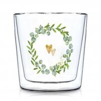 Doppelwand Glas 0,3 L - Two Hearts Trendglas DW