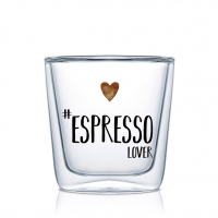 Doppelwand Glas 0,08 L - Espresso Lover DW