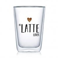 Doppelwand Glas 0,4 L - Latte Lover DW