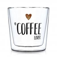 Doppelwand Glas 0,3 L - Coffee Lover Trendglas DW