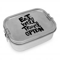 Edelstahl Brotdose - Eat well Steel Lunch Box