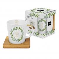 Porzellan-Henkelbecher - Home Sweet Home Trend nature