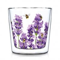 Doppelwand Glas 0,3 L - Bees & Lavender Trendglas