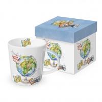 Porzellan-Henkelbecher - One World Trend