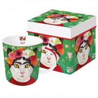 Porzellan-Henkelbecher - Frida Trend