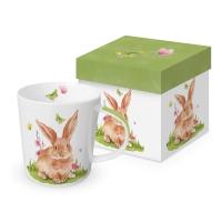 Porzellan-Henkelbecher - Mr. Rabbit Trend