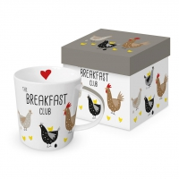 Porzellan-Henkelbecher - Breakfast Club Trend
