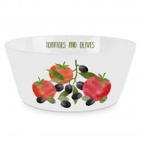 Porzellan Schale - Tomatoes & Olives Trend Bowl