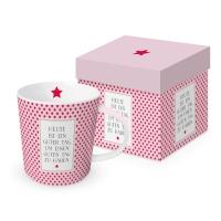 Porzellan-Henkelbecher - Guter Tag Trend