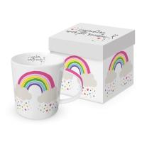 Porzellan-Henkelbecher - Rainbow Trend