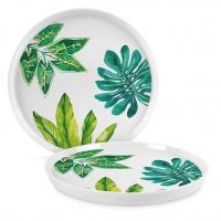 Porzellan-Teller 21cm - Jungle Trend Plate 21