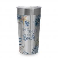 Edelstahl Travel Mug - Ocean Life is better Steel Travel Mug