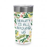 Edelstahl Travel Mug - Beauty is around Steel Travel Mug