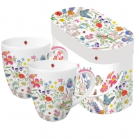 Porzellan-Henkelbecher - Nature Romance 2 Mug Set