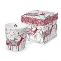 Porzellan-Henkelbecher - Scandic Christmas Trend