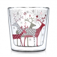 Doppelwand Glas 0,3 L - Scandic Christmas Trendglas DW