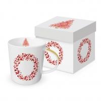 Porzellan-Henkelbecher - Season´s Greetings Trend