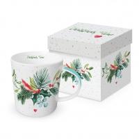 Porzellan-Henkelbecher - Christmas Time