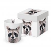 Porzellan-Henkelbecher - Raccoon
