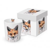Porzellan-Henkelbecher - Fox
