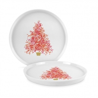 Porzellan-Teller 21cm - Seasons Tree Trend Plate 21
