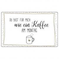 Frühstücks-Brettchen - Tablett Kaffee am Montag