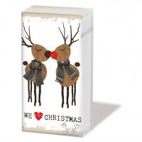 Taschentücher We Love Christmas