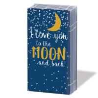 Taschentücher Moon Love dark blue