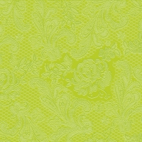 Cocktail Servietten Lace Embossed lime