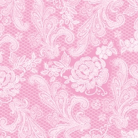 Servietten 33x33 cm - Lace Royal pastel pink whitecm