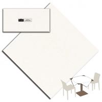 25 Tischdecken 100x100 cm UNICOLOR Bianco