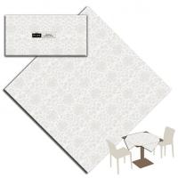 25 Tischdecken 100x100 cm VICTORIA Bianco