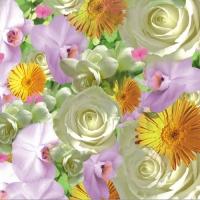 20 Servietten 33x33 cm - Springflowers