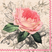 20 Servietten 33x33 cm - Charming Rose