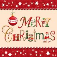 20 Servietten 33x33 cm - Merry Christmas