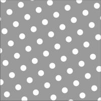30 Servietten 33x33 cm - Dots grau