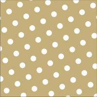 30 Servietten 33x33 cm - Dots sand