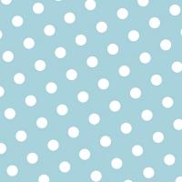 30 Servietten 33x33 cm - Dots hellblau